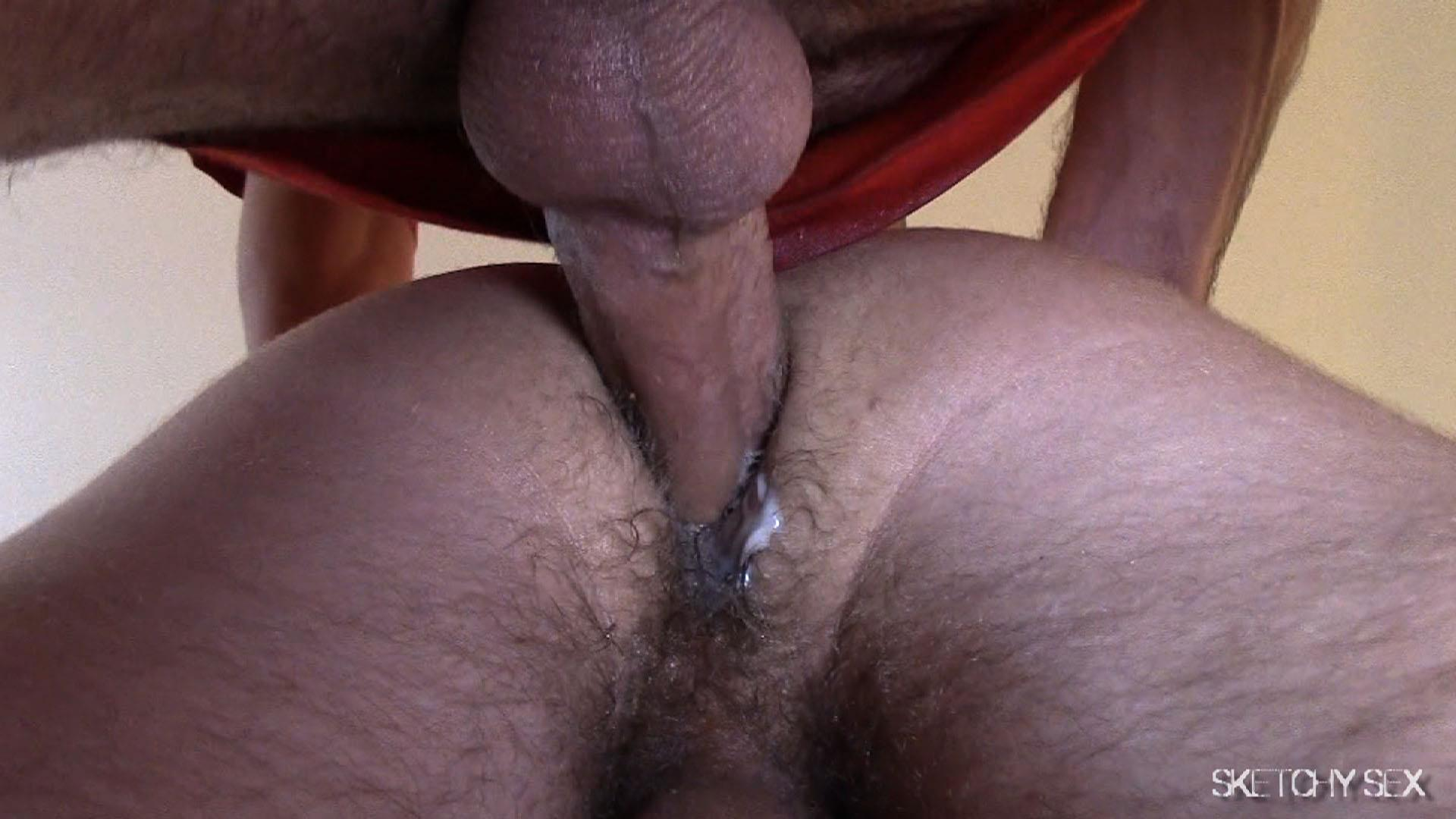 "Sketchy-Sex-Nate-Getting-Fucked-Bareback-By-A-10-Inch-Craigslist-Cock-Amateur-Gay-Porn-11 Taking A 10"" Craigslist Cock Bareback While The Roommate Watches"